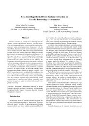 Real-time Hypothesis Driven Feature Extraction on Parallel ...