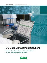 QC Data Management Solutions Brochure - Bio-Rad