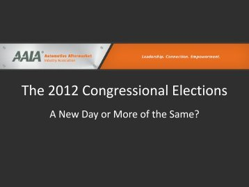 The 2012 Congressional Elections