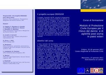 Brochure del corso - Dipartimento della Protezione Civile