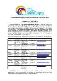 CONVOCATÓRIA - Instituto Estadual de Meio Ambiente