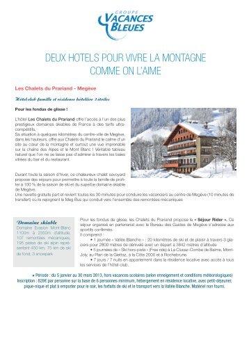 Hiver 2013 - Vacances Bleues