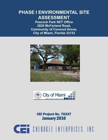 Phase 1 ESA Report - Cherokee Enterprises, Inc.