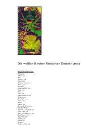 Die weißen & roten Rebsorten Deutschlands - WEINBUECHER.de