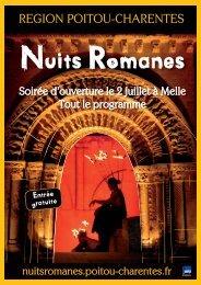 Voir le programme de la soirée d'ouverture - Région Poitou-Charentes