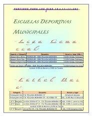 ESCUELAS DEPORTIVAS MUNICIPALES - Teulada Moraira