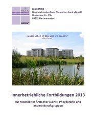 Klicken Sie hier, um den Weiterbildungsplan für 2013 als PDF ...