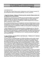 Bericht des Treffens - Alternative Kommunalpolitik