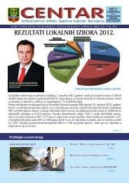 REZULTATI LOKALNIH IZBORA 2012. - Općina Centar