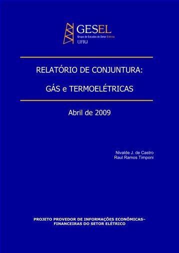 GÁS e TERMOELÉTRICAS - Nuca - UFRJ