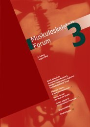 Muskuloskeletalt Forum - 3/2006 (pdf) - Fagforum for ...