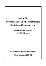 Wissenschaftliche Veranstaltungen - Institut für Psychoanalyse und ...