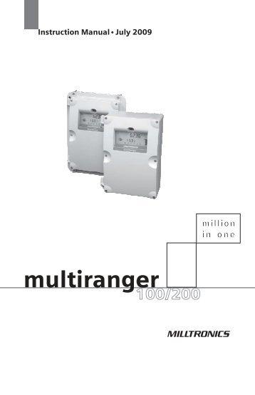 hydroranger plus manual pdf rs hydro rh yumpu com Milltronics Level Transmitter Milltronics Programming Manual