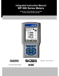 CyberScan 600 Series Instruction Manual - Eutech