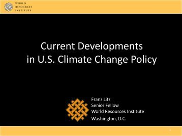 US Overview - Institute for Governance and Policy Studies