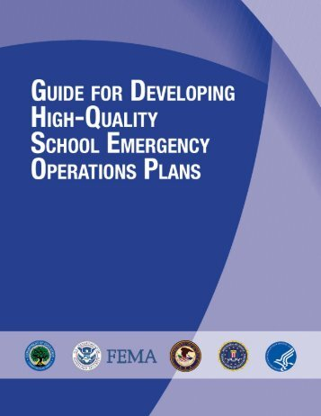 guide for developing high-quality school emergency operations plans