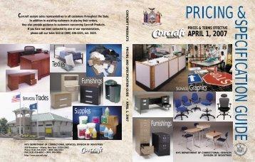 APRIL 1, 2007 - Corcraft