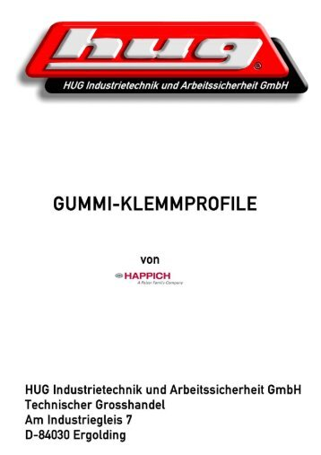 HAPPICH-Gummiklemm-Profile - HUG-TECHNIK ERGOLDING