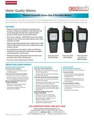 Thermo Scientific Orion Star A Portable Meters - Geotech ...