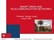 Smart Grids and Telecommunication Networks - The University of ...