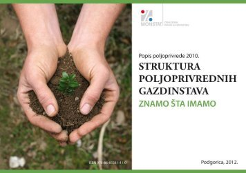 Knjiga VI - Struktura poljoprivrednih gazdinstava - Znamo ... - Monstat