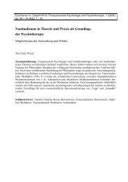 Nondualismus in Theorie und Praxis als Grundlage der - IPPM