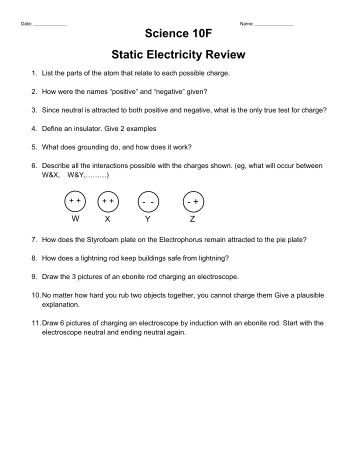 Static Electricity Lab 01