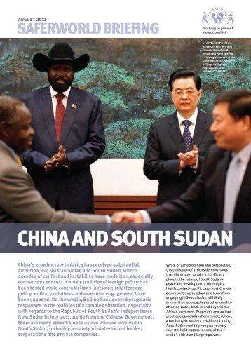 china and south sudan - Saferworld