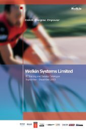 Untitled - Welkin Systems Limited