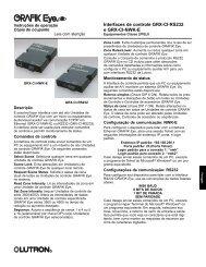 Interfaces de controle GRX-CI-RS232 e GRX-CI-NWK-E - Lutron