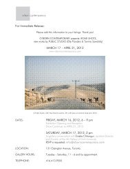 MARCH 17 – APRIL 21, 2012 FRIDAY, MARCH 16, 2012, 6 – 9 pm ...
