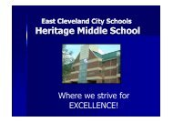 Heritage Middle School Provides - East Cleveland City Schools