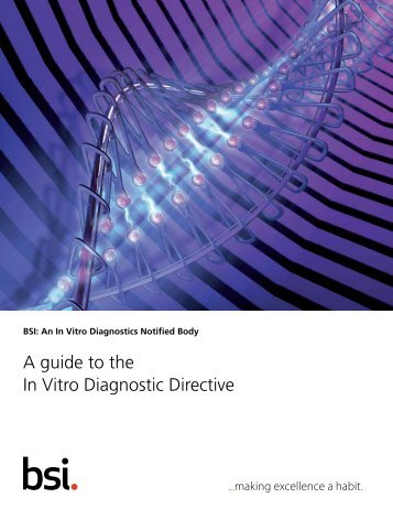 In Vitro Diagnostics Directive Guide - BSI Medical Devices - British ...