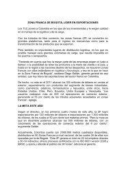 ZONA FRANCA DE BOGOTÁ, LÍDER EN EXPORTACIONES ... - SIAP