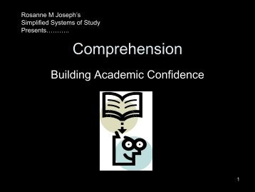 Comprehension - Crosby ISD