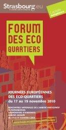 JOURNÉES EUROPÉENNES DES ÉCO-QUARTIERS du 17 au 19 ...