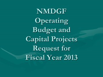 FY 2013 Budget and Capital Outlay Request - New Mexico Game ...