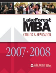 2007-2008 - Lake Forest Graduate School of Management