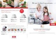 Mit uns kochen Generationen. - Fissler GmbH