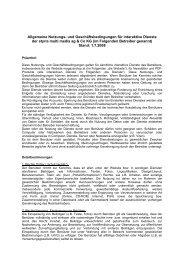 Nutzungsbedingungen Websites Wien 01072008 - Styria Multi Media