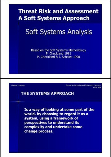 Soft Systems Analysis