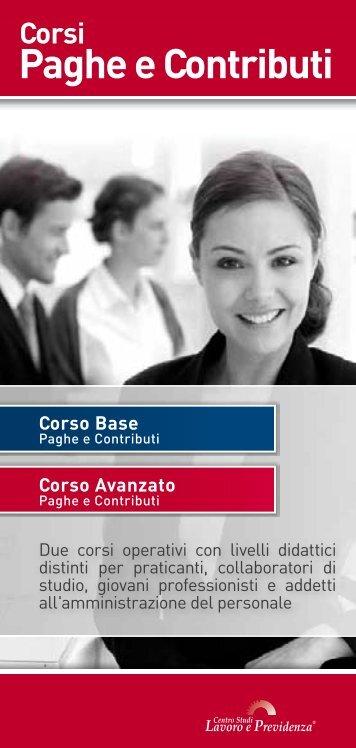 Corso Base Paghe e contributi - Centro Studi Lavoro e Previdenza