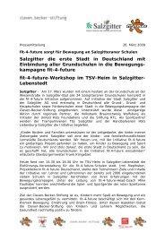 Salzgitter die erste Stadt in Deutschland mit ... - Fit for Future