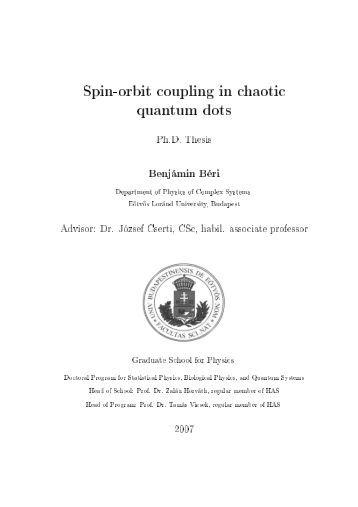 spin-orbit coupling