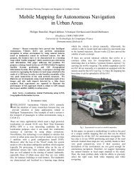 Mobile Mapping for Autonomous Navigation in Urban Areas