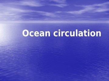 Ocean circulation 1-2