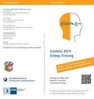 Existenz 2014 Erding | Freising - AKTIVSENIOREN BAYERN eV