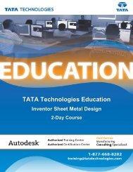 TATA Technologies Education Autodesk Inventor Sheet Metal Design