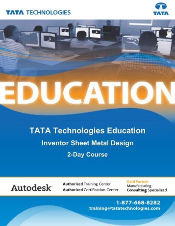TATA Technologies Education Autodesk Inventor Sheet Metal Design