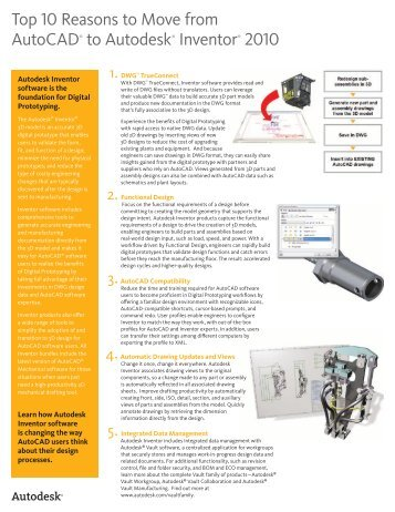 Top 10 Reasons to Move from AutoCAD® to Autodesk® Inventor ...